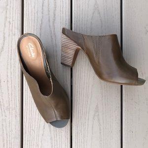 Clarks Artisan Leather Okena Chic Heeled Mule, 9.5